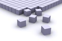 Het organiseren van kubussen Stock Foto's
