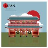 Het Oriëntatiepunt en de Reisaantrekkelijkheden van Asakusasensoji Japan Stock Afbeelding