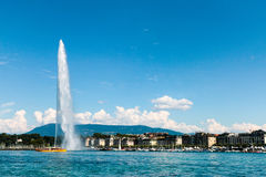 Het oriëntatiepunt Straald& x27; Eau van Genève, Zwitserland Royalty-vrije Stock Afbeelding