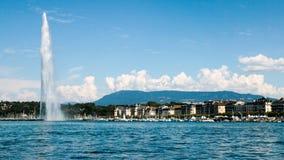 Het oriëntatiepunt Straald& x27; Eau van Genève, Zwitserland Royalty-vrije Stock Afbeeldingen