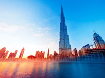 Het Oriëntatiepunt van Burjkhalifa dubai Stock Foto's