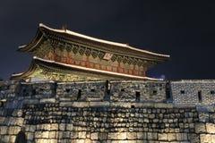 Het oriëntatiepunt van de Dongdaemunpoort in Seoel Zuid-Korea royalty-vrije stock foto