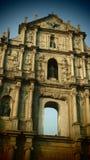 Het oriëntatiepunt van de het Monumentenarchitectuur van Macao Macao stock fotografie