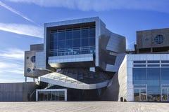 Het Oriëntatiepunt van Denemarken Aalborg van het muziekhuis operahouse Stock Foto's