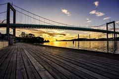 Het oriëntatiepunt van Gothenburg-brug in Zweden stock afbeelding
