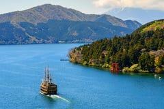 Het oriëntatiepunt van meerashi, Hakone stock foto
