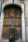 Het oriëntatiepunt van Moskou het Kremlin De Plaats van de Erfenis van de Wereld van Unesco stock foto's