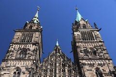 Het oriëntatiepunt van Nuremberg, Duitsland stock foto