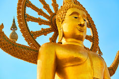 Het oriëntatiepunt van Thailand De Grote Tempel van Boedha Boeddhismegodsdienst Tou stock foto's