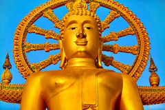 Het oriëntatiepunt van Thailand De Grote Tempel van Boedha Boeddhismegodsdienst Tou royalty-vrije stock foto