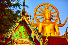 Het oriëntatiepunt van Thailand De Grote Tempel van Boedha Boeddhismegodsdienst Tou stock afbeeldingen
