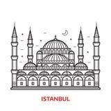 Het Oriëntatiepunt Vectorillustratie van Istanboel vector illustratie