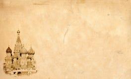 Het oriëntatiepuntachtergrond van Moskou. royalty-vrije stock afbeeldingen
