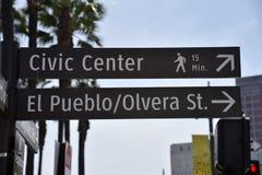 Het Oriëntatiepuntteken van Los Angeles stock foto