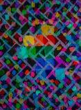 Het originele Abstracte Acryl Schilderen op Canvas Baksteen heldere muur Achtergrond Stock Afbeelding