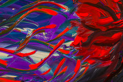 Het originele abstracte olieverfschilderij Achtergrond Stock Foto