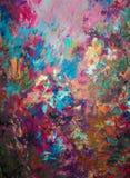 Het originele abstracte olieverfschilderij Achtergrond Textuur Stock Afbeeldingen