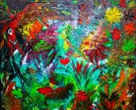 Het originele abstracte olieverfschilderij Achtergrond Textuur Royalty-vrije Stock Fotografie
