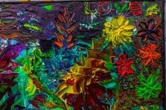 Het originele abstracte olieverfschilderij Achtergrond Textuur Royalty-vrije Stock Afbeelding