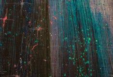 Het originele abstracte olieverfschilderij Nacht, sterren Achtergrond Textuur Stock Afbeelding