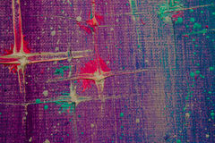 Het originele abstracte olieverfschilderij Nacht, sterren Achtergrond Textuur Royalty-vrije Stock Foto's