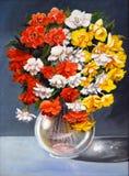 Het originele begonia's schilderen Stock Fotografie