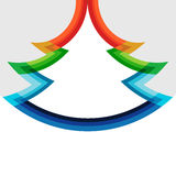 Het originele ontwerp van de Kerstmisboom in regenboogkleuren royalty-vrije illustratie