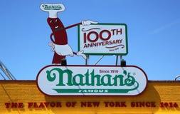 Het originele restaurant van Nathan in Coney Island, New York Stock Fotografie