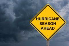 Het orkaanseizoen waarschuwt vooruit Teken Stock Fotografie