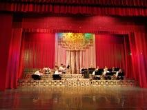 Het orkest op de scène van het Theater Constantin Tanase royalty-vrije stock fotografie