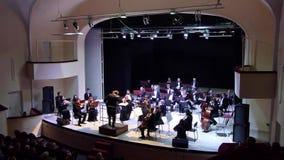 Het Orkest van de Dniprosymfonie stock footage