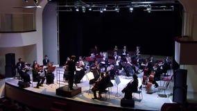 Het Orkest van de Dniprosymfonie stock video