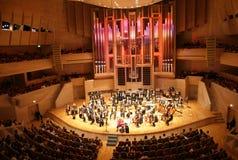 Het orkest van de symfonie stock afbeeldingen