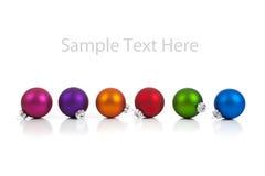 Het ornament/de snuisterijen van Kerstmis met exemplaarruimte Stock Afbeeldingen
