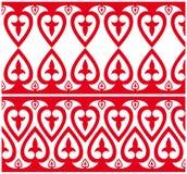 Het ornament met hart arrangemen Stock Fotografie