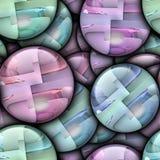 Het ornament stapelde kleurrijke naadloze plastic tegel royalty-vrije illustratie