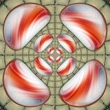 Het ornament stapelde kleurrijke plastic tegel stock illustratie