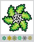 Het ornament van bladeren Stock Afbeelding