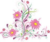 Het ornament van de bloem Stock Foto