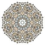 Het ornament van de cirkel, sier rond kant Royalty-vrije Stock Afbeeldingen