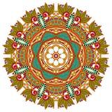 Het ornament van de cirkel, sier rond kant Royalty-vrije Stock Foto's