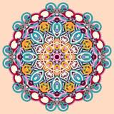 Het ornament van de cirkel, sier rond kant Stock Afbeelding