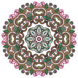 Het ornament van de cirkel, sier rond kant Stock Fotografie