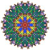Het ornament van de cirkel, sier rond kant Stock Afbeeldingen