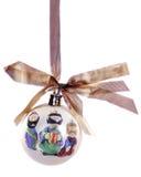 Het Ornament van de geboorte van Christus Stock Foto's