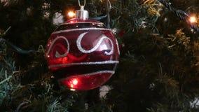 Het ornament van de kerstboom stock footage