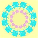 Het ornament van de Mandalastijl met leunstoelillustratie Stock Foto's