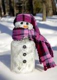 Het Ornament van de sneeuwman stock foto