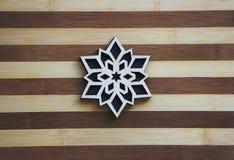Het Ornament van de sneeuwvlok Stock Foto's