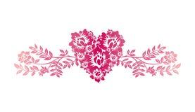 Het ornament van de valentijnskaart Stock Afbeelding